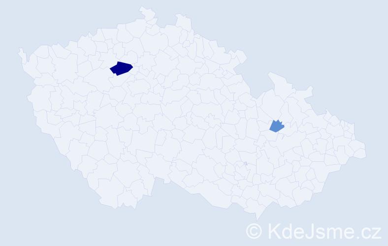 Příjmení: 'Ischiová', počet výskytů 5 v celé ČR