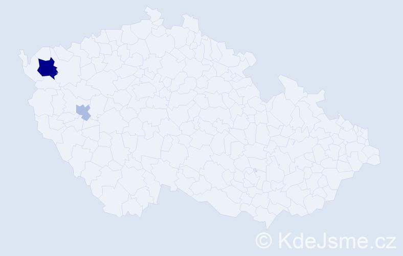 Příjmení: 'Iždinský', počet výskytů 5 v celé ČR