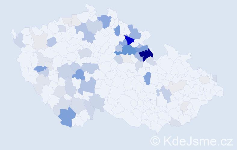 Příjmení: 'Říčařová', počet výskytů 179 v celé ČR