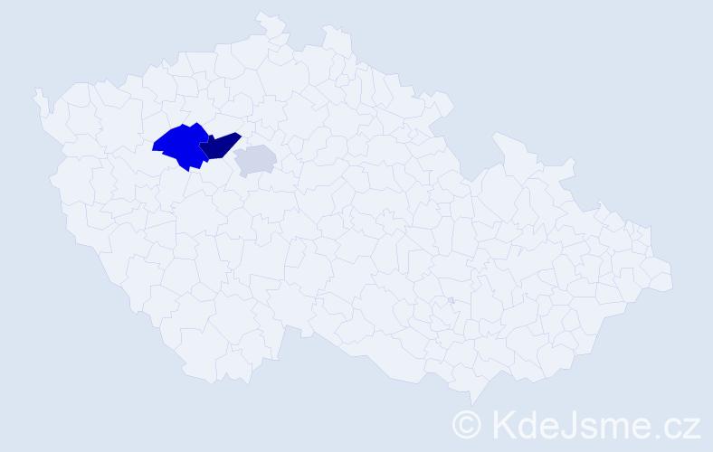 Příjmení: 'Kiszelyová', počet výskytů 4 v celé ČR