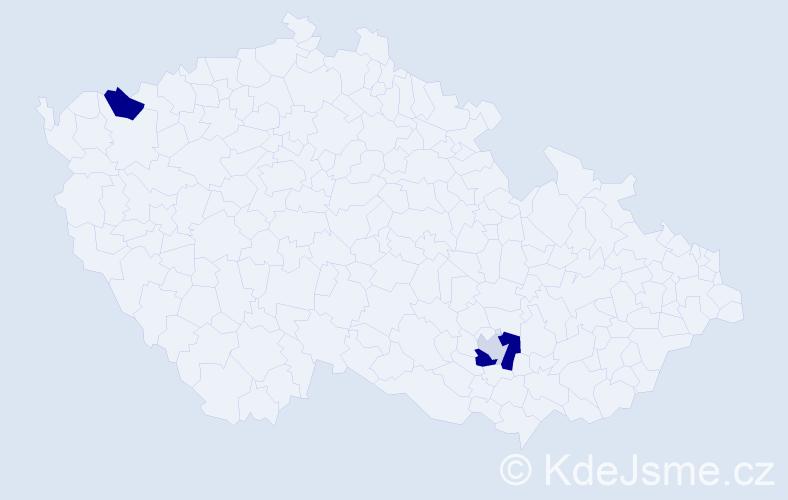 Příjmení: 'Absenger', počet výskytů 7 v celé ČR