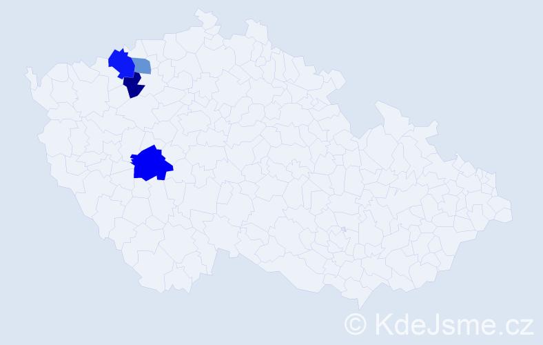 Příjmení: 'Gerstenhöfer', počet výskytů 6 v celé ČR
