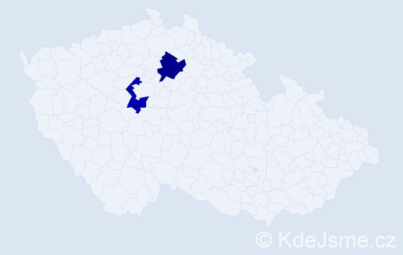 Příjmení: 'Kolprechtová', počet výskytů 2 v celé ČR