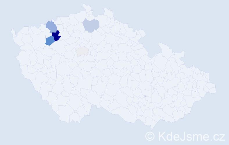 Příjmení: 'Dormiševová', počet výskytů 9 v celé ČR