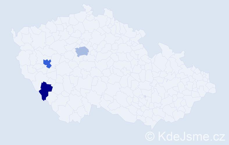Příjmení: 'Landergott', počet výskytů 8 v celé ČR