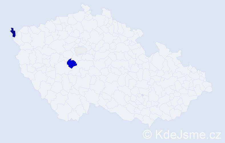 Příjmení: 'Hoštáková', počet výskytů 8 v celé ČR