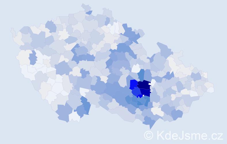 Příjmení: 'Dvořáčková', počet výskytů 3285 v celé ČR