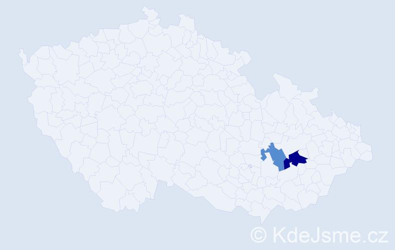 Příjmení: 'Galiček', počet výskytů 3 v celé ČR
