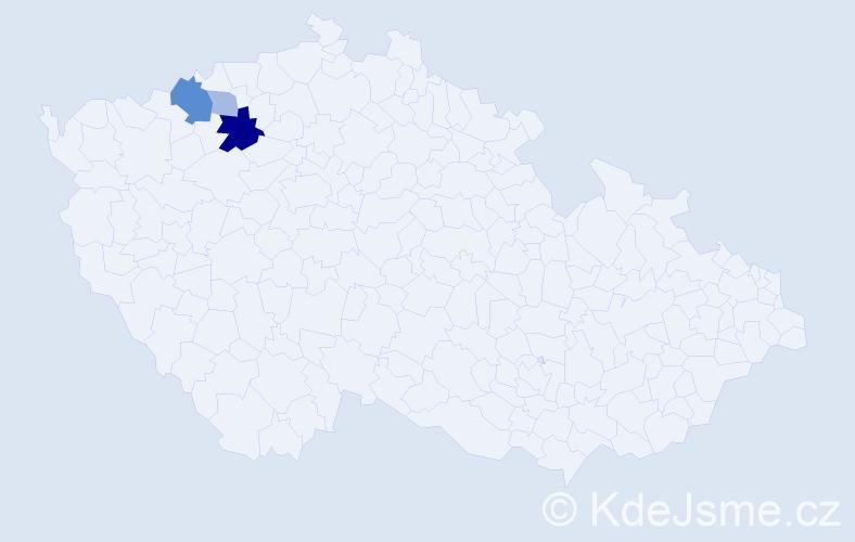 Příjmení: 'Dakher', počet výskytů 8 v celé ČR