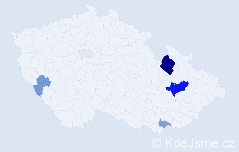 Příjmení: 'Lahová', počet výskytů 12 v celé ČR