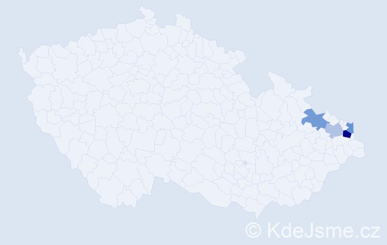 Příjmení: 'Gödrichová', počet výskytů 6 v celé ČR