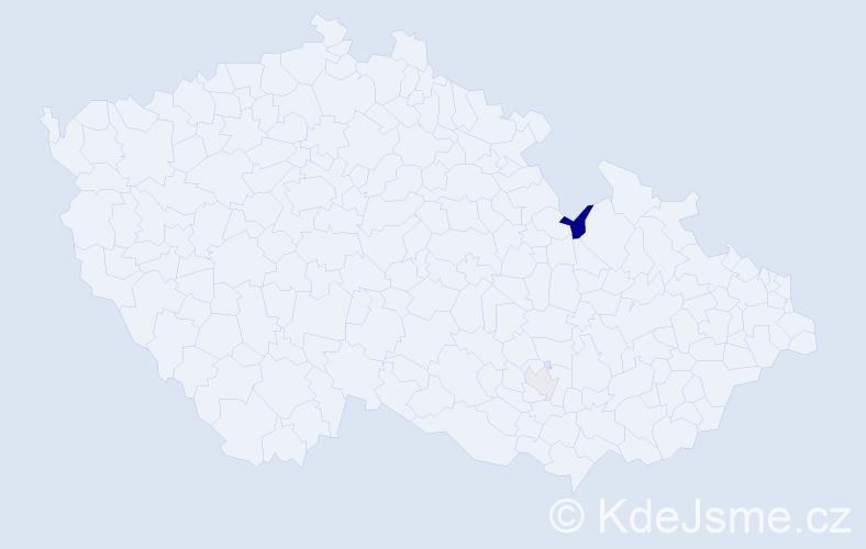 Příjmení: 'Hilal', počet výskytů 3 v celé ČR