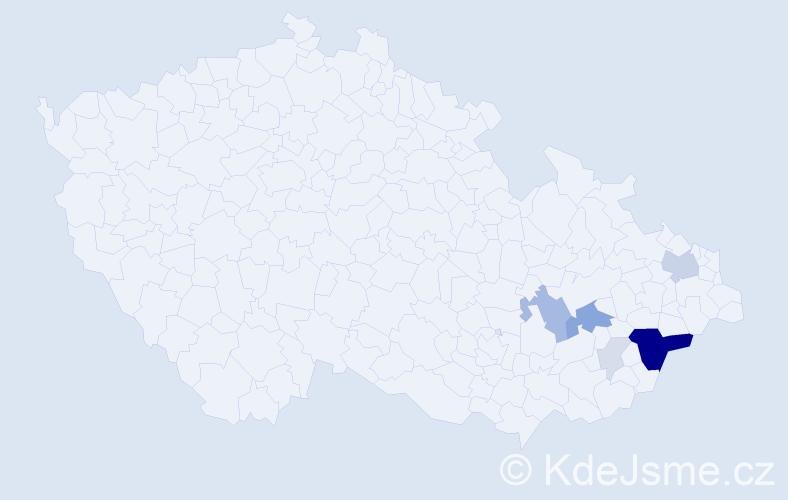 Příjmení: 'Lalošáková', počet výskytů 28 v celé ČR