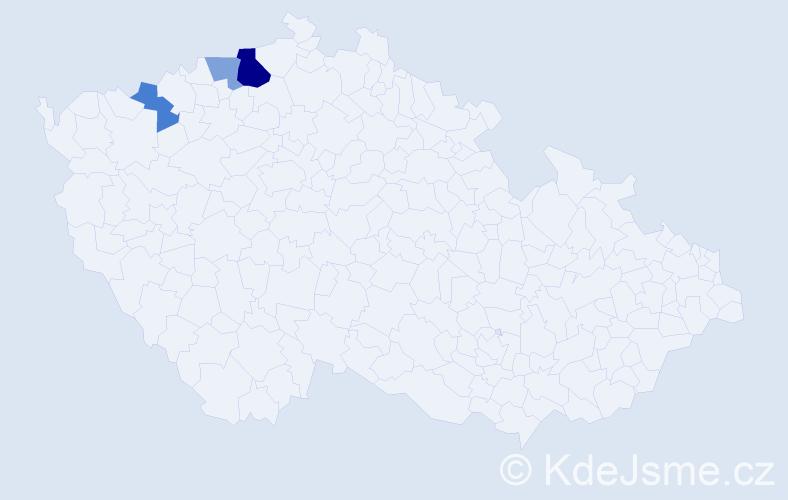 Příjmení: 'Imbruš', počet výskytů 6 v celé ČR