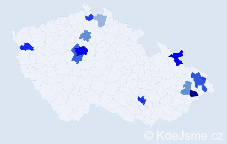 Příjmení: 'Katz', počet výskytů 67 v celé ČR