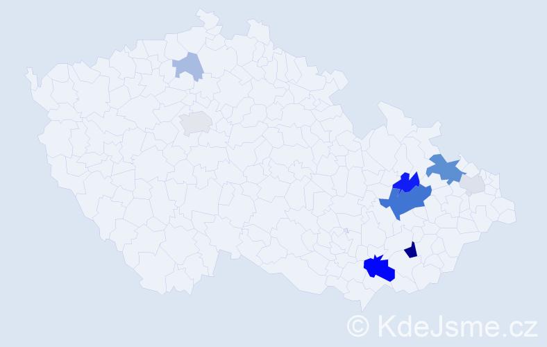 Příjmení: 'Jarmová', počet výskytů 26 v celé ČR