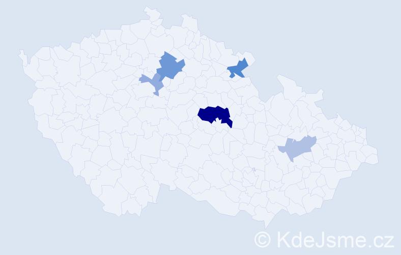 Příjmení: 'Kastler', počet výskytů 11 v celé ČR