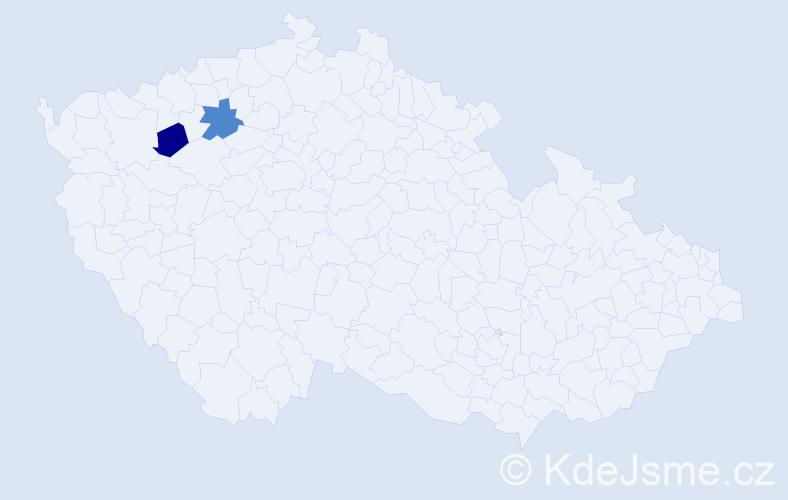Příjmení: 'Hédervaryová', počet výskytů 7 v celé ČR