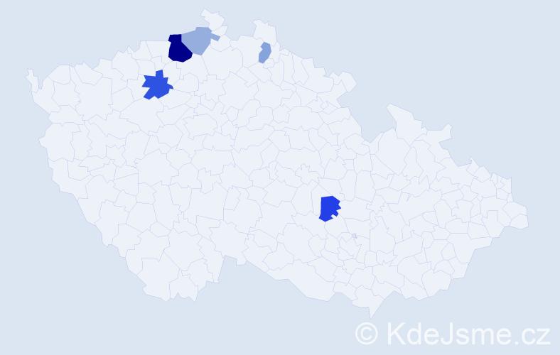 Příjmení: 'Hempel', počet výskytů 12 v celé ČR