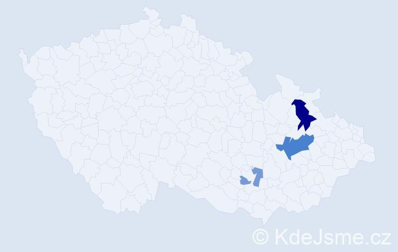 Příjmení: 'Heloňa', počet výskytů 6 v celé ČR
