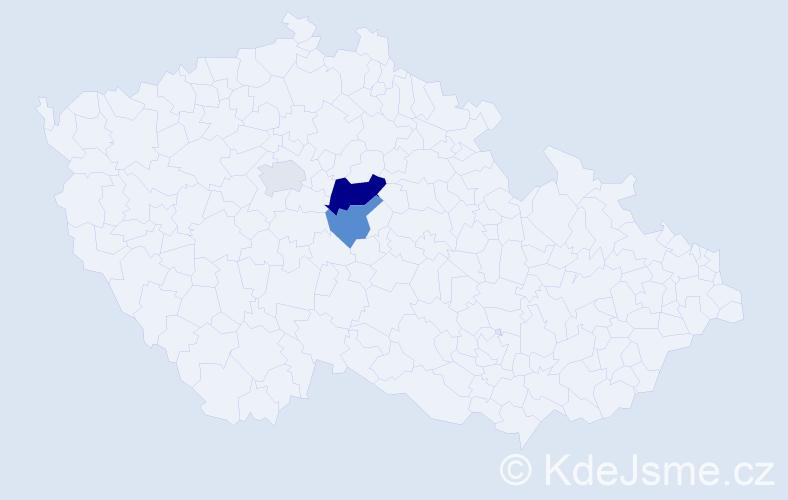 Příjmení: 'Kedršt', počet výskytů 21 v celé ČR
