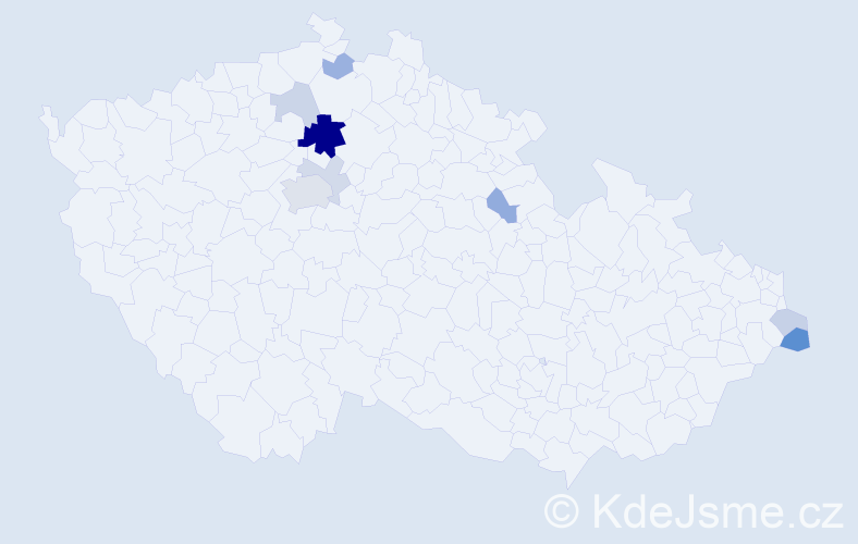 Příjmení: 'Groušlová', počet výskytů 21 v celé ČR
