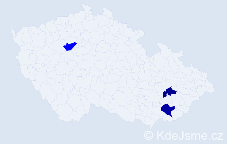 Příjmení: 'Ayres', počet výskytů 3 v celé ČR