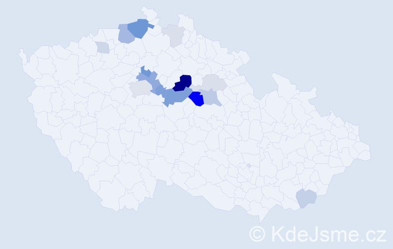 Příjmení: 'Krojidlová', počet výskytů 39 v celé ČR