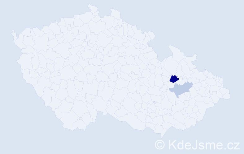 Příjmení: 'Einaigl', počet výskytů 3 v celé ČR