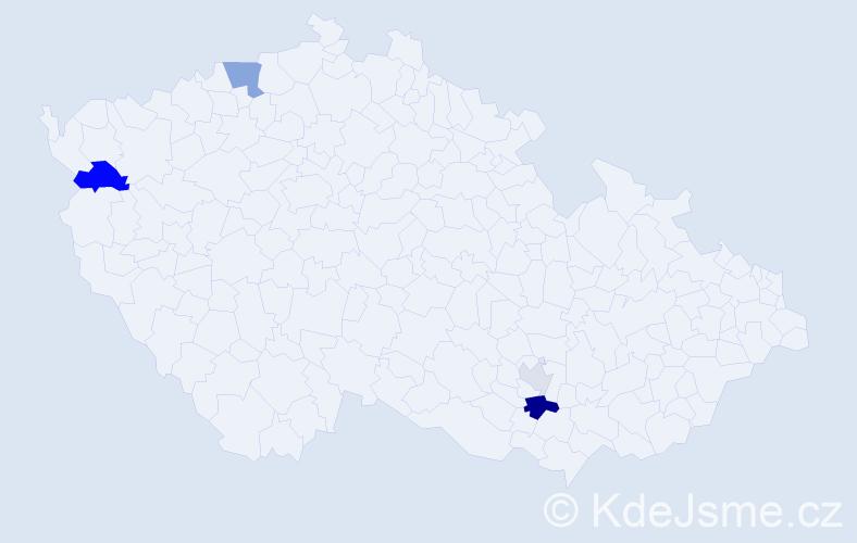 Příjmení: 'Faistlová', počet výskytů 8 v celé ČR