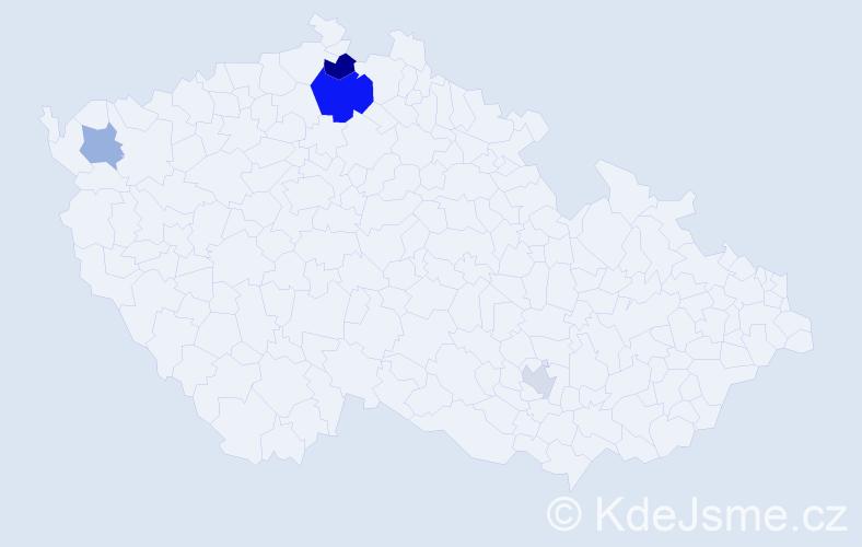 Příjmení: 'Ešpander', počet výskytů 8 v celé ČR