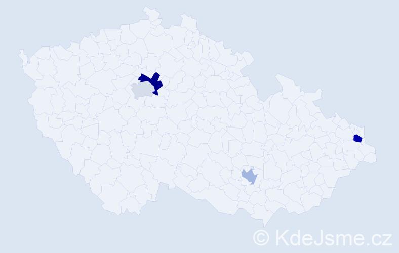 Příjmení: 'Herboczek', počet výskytů 6 v celé ČR
