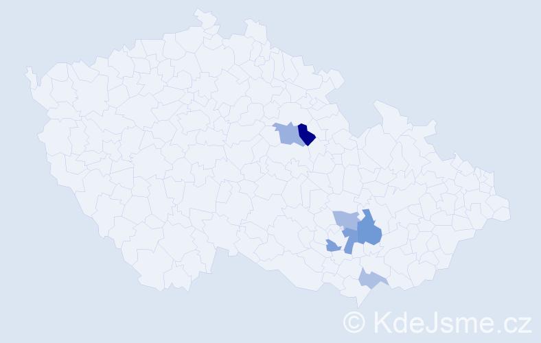Příjmení: 'Idrný', počet výskytů 10 v celé ČR