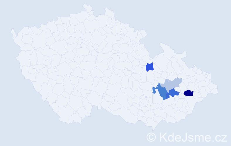 Příjmení: 'Gefingová', počet výskytů 11 v celé ČR