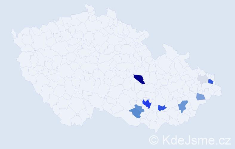 Příjmení: 'Irein', počet výskytů 31 v celé ČR