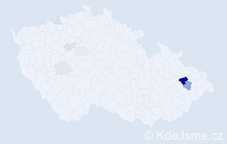 Příjmení: 'Grecu', počet výskytů 24 v celé ČR