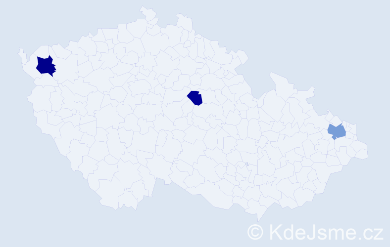 Příjmení: 'Adyová', počet výskytů 13 v celé ČR