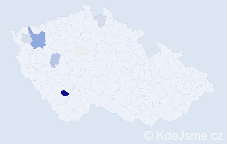 Příjmení: 'Handšuh', počet výskytů 24 v celé ČR