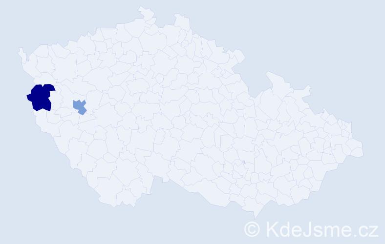 Příjmení: 'Bogašová', počet výskytů 2 v celé ČR