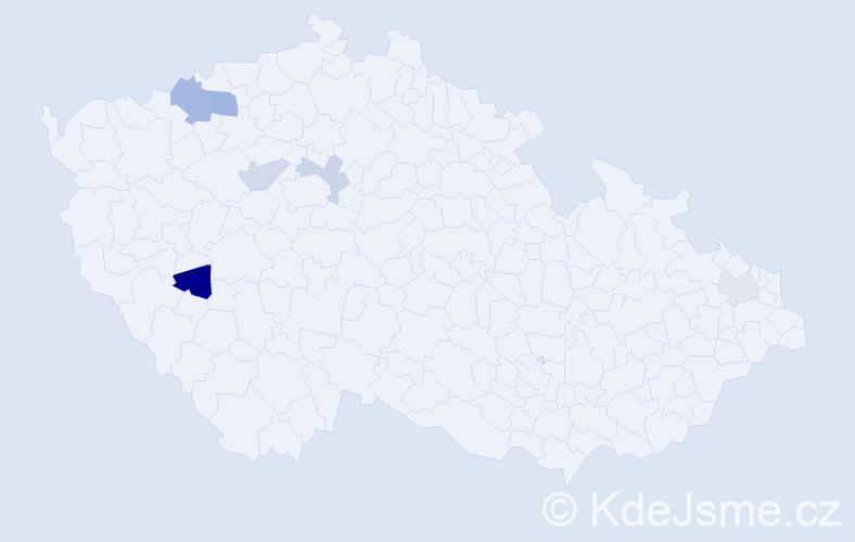 Příjmení: 'Horsicza', počet výskytů 9 v celé ČR