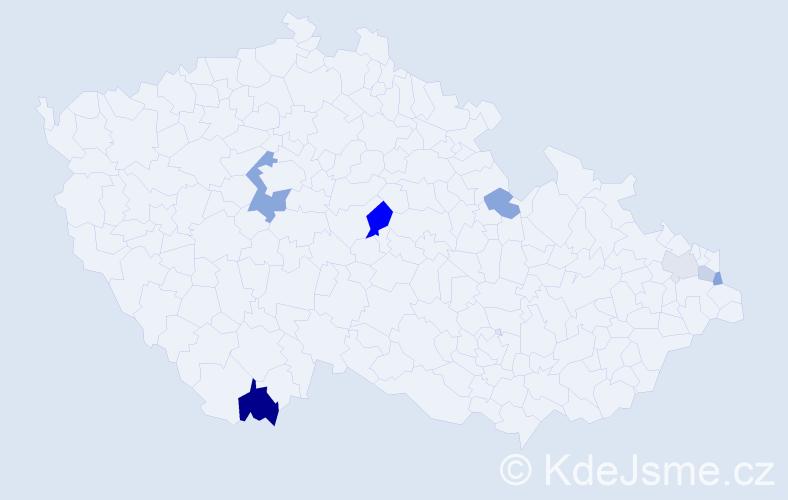 Příjmení: 'Charwot', počet výskytů 13 v celé ČR