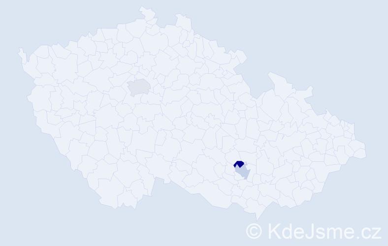 Příjmení: 'Estrada', počet výskytů 3 v celé ČR