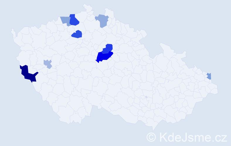 Příjmení: 'Jankulíková', počet výskytů 14 v celé ČR