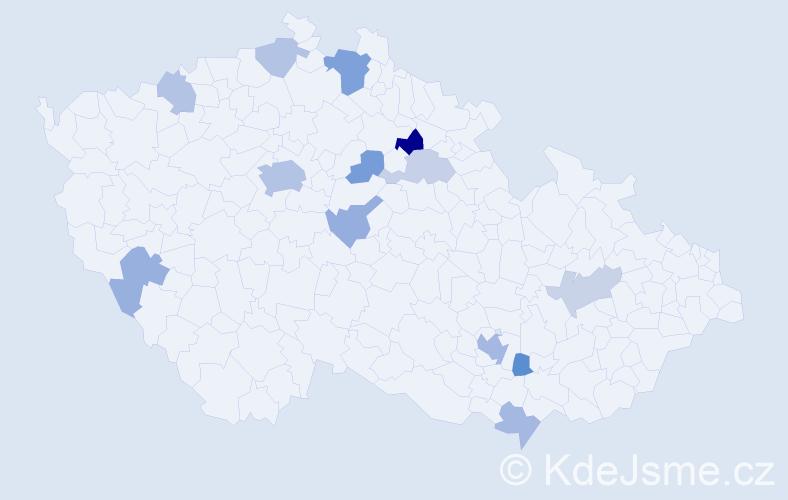 Příjmení: 'Böhmer', počet výskytů 27 v celé ČR