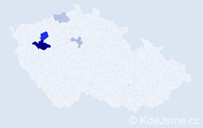 Příjmení: 'Mahner', počet výskytů 6 v celé ČR