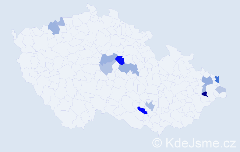 Příjmení: 'Ďatková', počet výskytů 36 v celé ČR