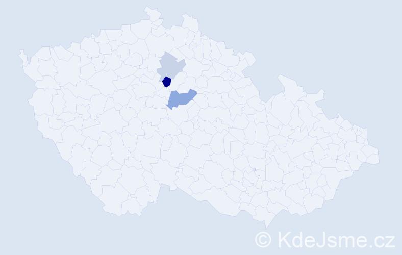 Příjmení: 'Číčová', počet výskytů 6 v celé ČR
