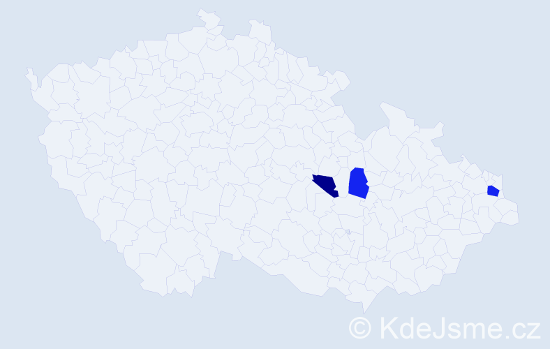 Příjmení: 'Ferlík', počet výskytů 5 v celé ČR