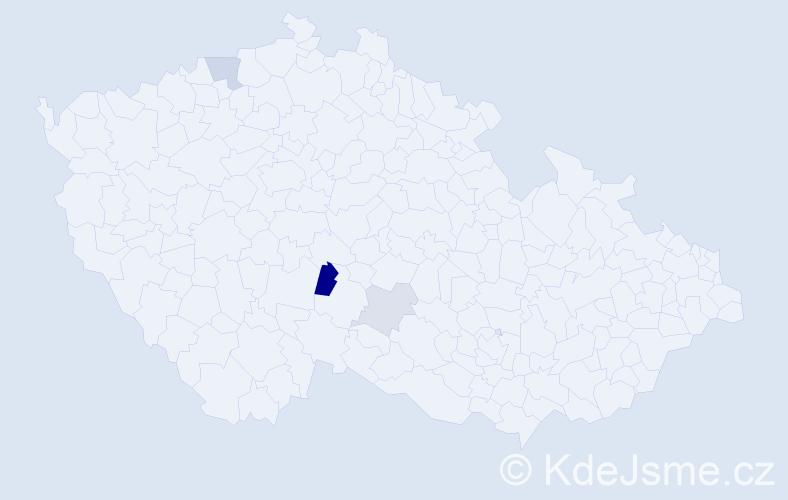 Příjmení: 'Čelonk', počet výskytů 6 v celé ČR
