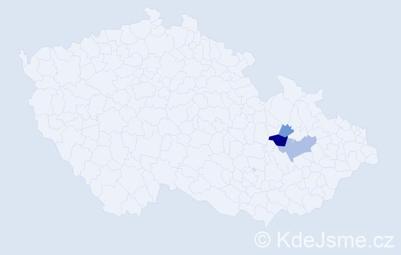 Příjmení: 'Gédošová', počet výskytů 6 v celé ČR